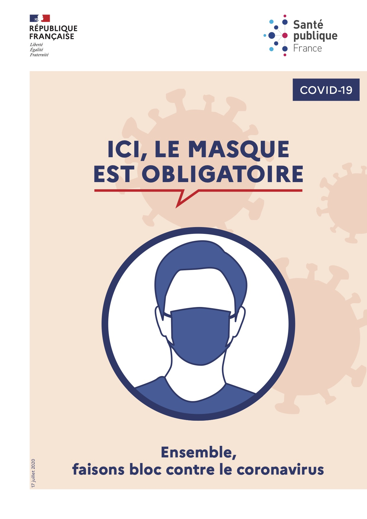 Affiche Coronavirus Masque
